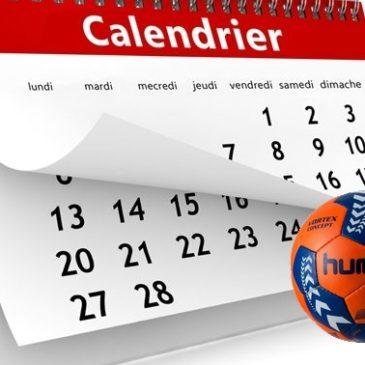 Calendrier Conférence Nord Est 2018-2019 Handball