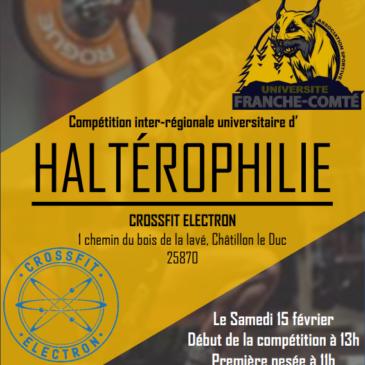 Compétition inter-régionale d'haltérophilie 15/02/2020