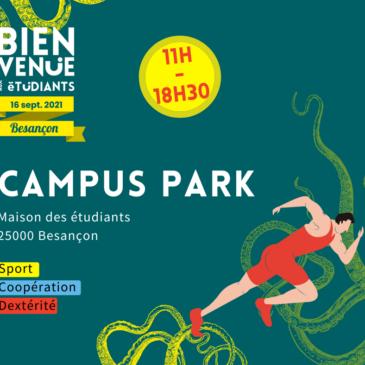    Besançon – BAE – Campus Park – jeudi 16 septembre – départ Maison des étudiants  